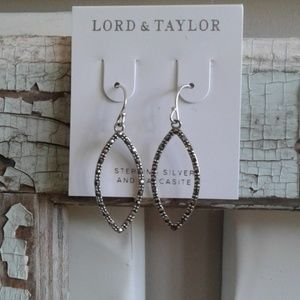 NEW sterling silver and marcasite earrings
